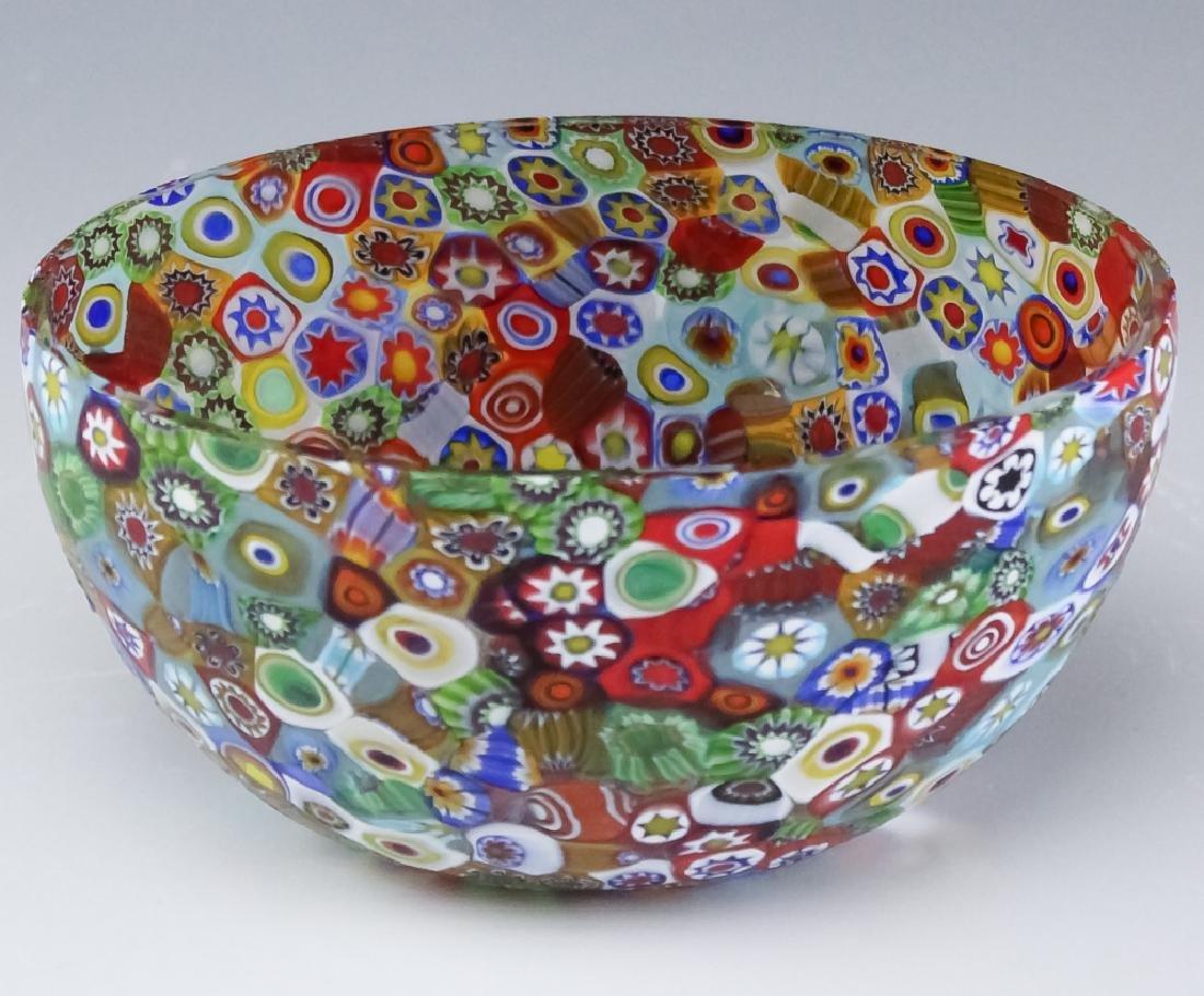 Murano Millefiori Toso? Italian Art Glass Bowl - 3