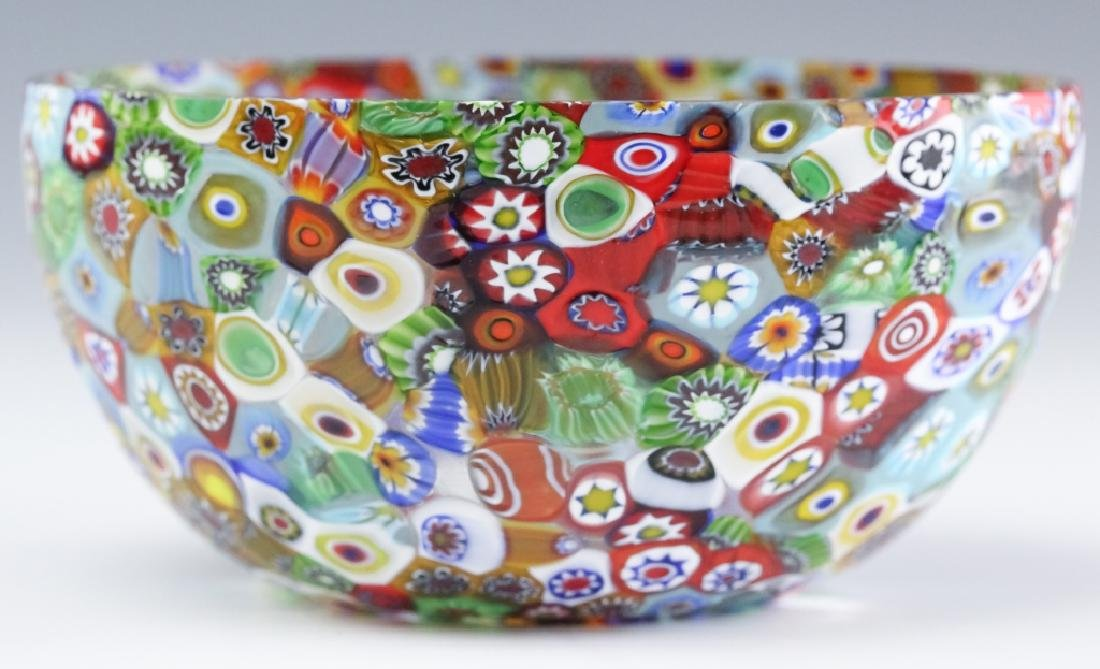 Murano Millefiori Toso? Italian Art Glass Bowl - 5