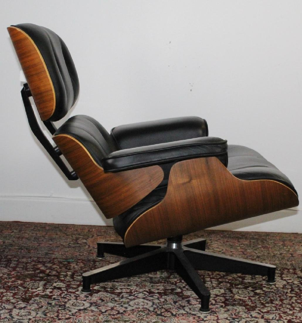 Charles & Ray Eames Black Leather Lounge Chair 670 - 2