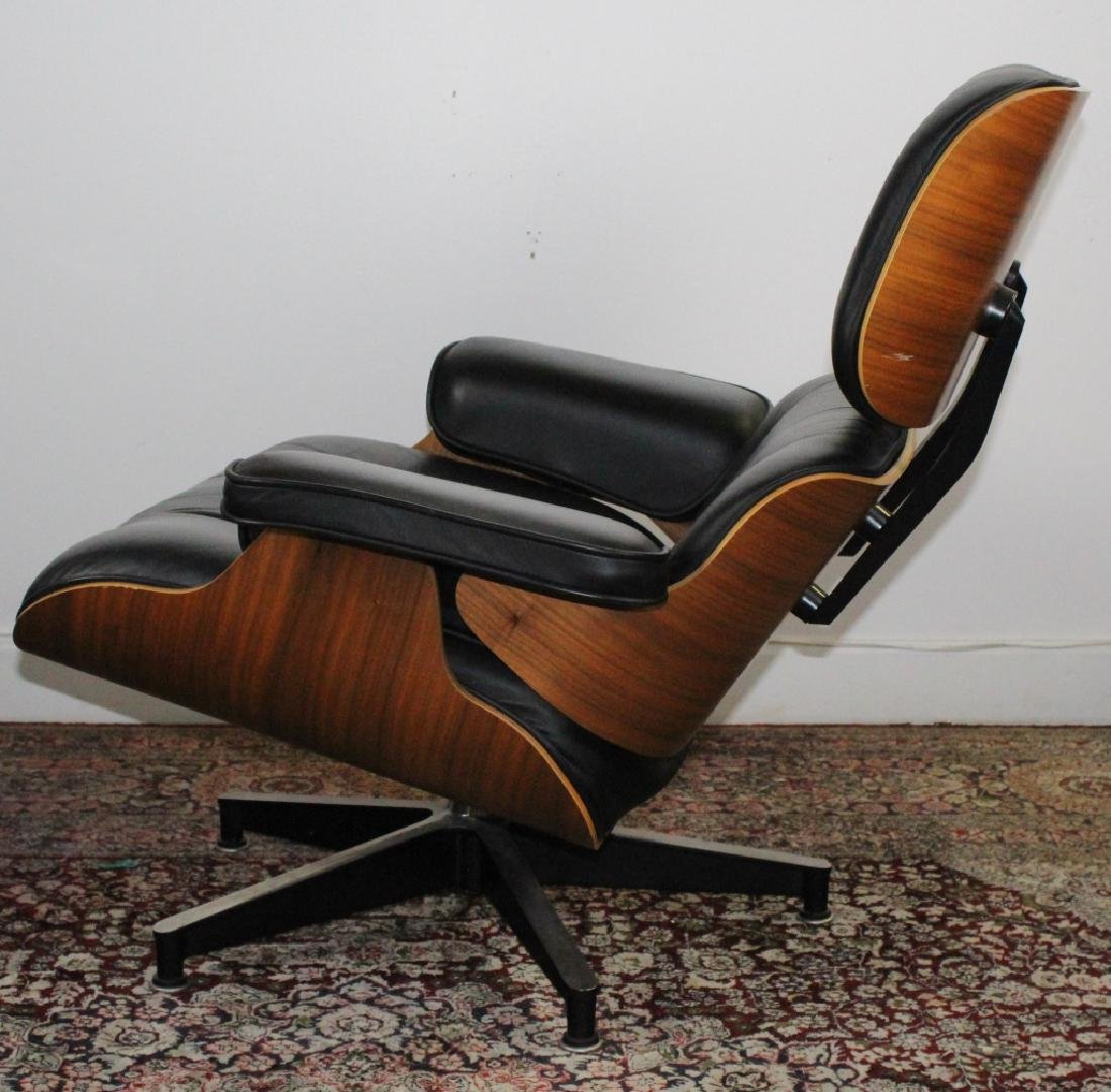 Charles & Ray Eames Black Leather Lounge Chair 670 - 5