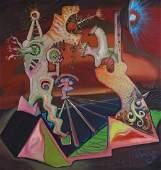 Anriko Wensi American Modern Surreal Oil Painting