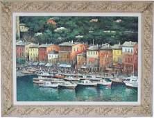 Domenico Tosetto b.1949 Portofino Italian Painting