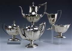 5pc Gorham Sterling Silver Plymouth Tea Set 2259g.