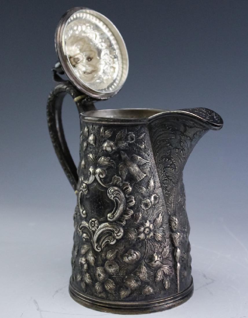 A.E. Warner Baltimore Coin Silver Chocolate Pot - 5