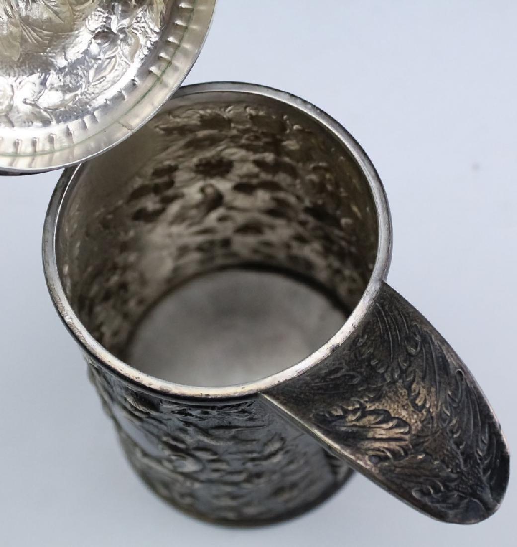 A.E. Warner Baltimore Coin Silver Chocolate Pot - 6