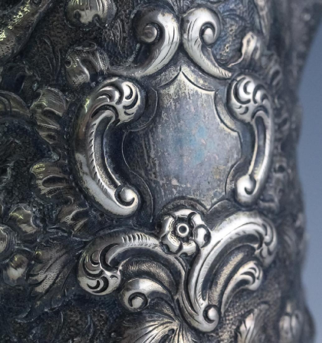 A.E. Warner Baltimore Coin Silver Chocolate Pot - 8