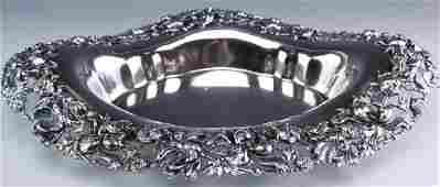 Reed & Barton Sterling Silver Poppy Platter Bowl