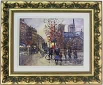 Robert Lebron 19282013 Parisian Street Painting