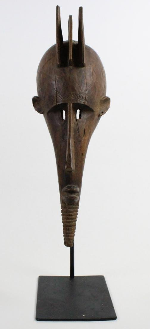 Old African Ceremonial Carved Wood Tribal Mask