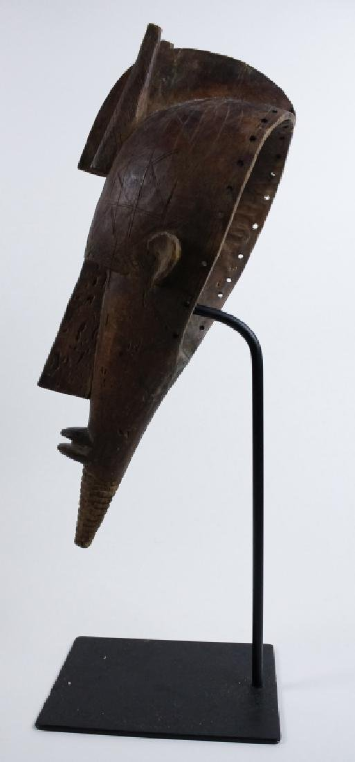 Old African Ceremonial Carved Wood Tribal Mask - 4