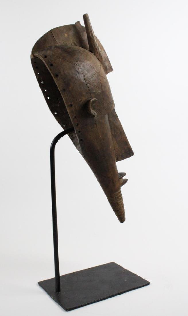 Old African Ceremonial Carved Wood Tribal Mask - 6