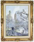 Robert Lebron 19282013 Park Landscape Painting