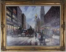 Robert Lebron (1928-2013) American Oil Painting