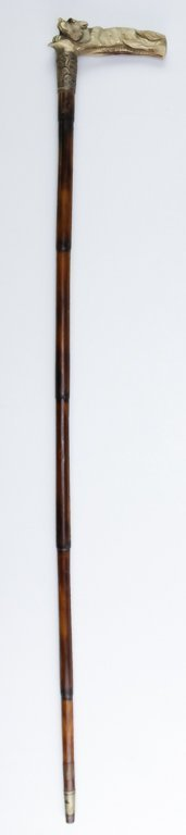 Pair of Animal Walking Stick Canes Dog and Fox - 4