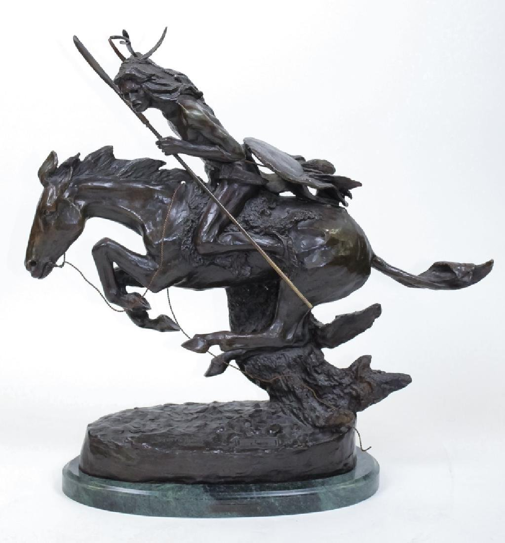 Remington American Indian Western Bronze Sculpture