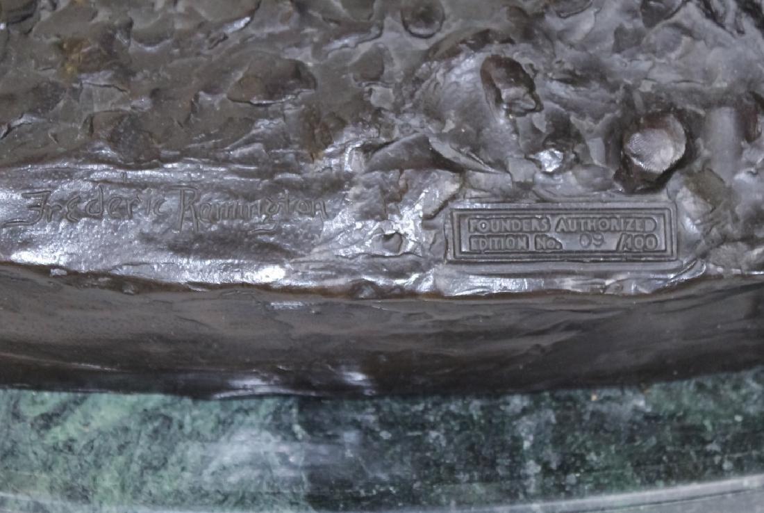 Remington American Indian Western Bronze Sculpture - 2
