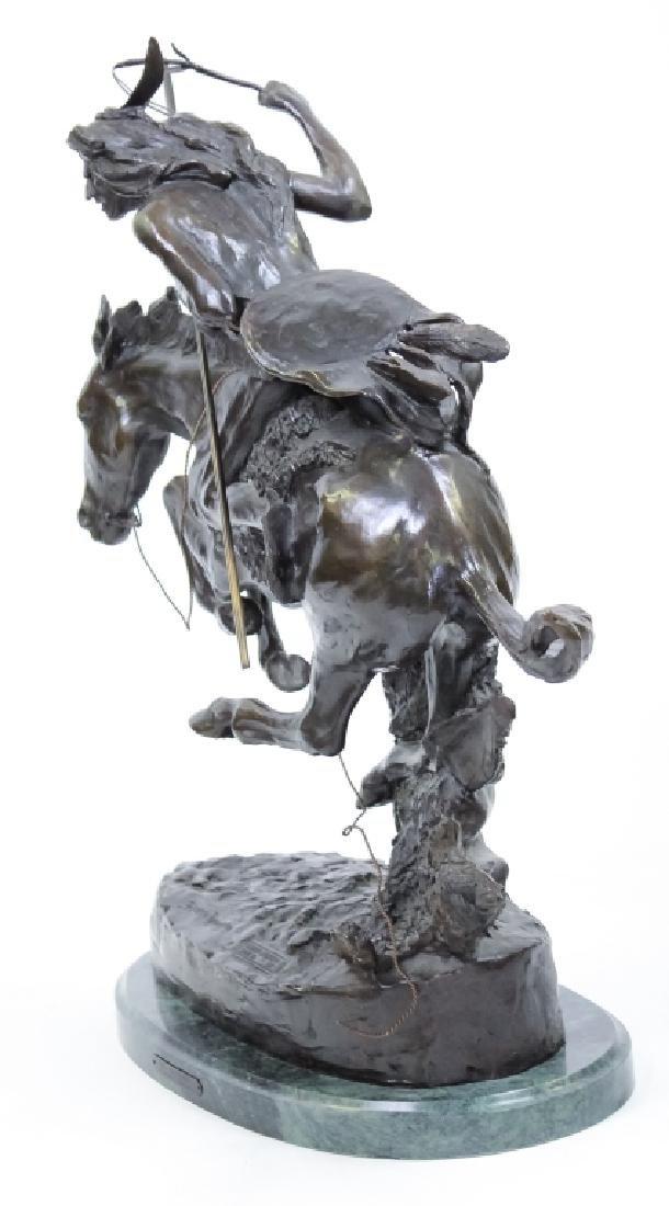 Remington American Indian Western Bronze Sculpture - 5