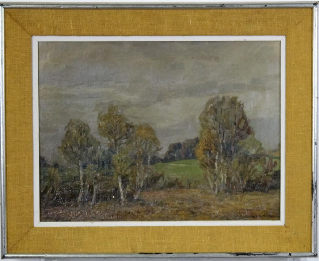 Alfred Mitchell Oil On Board Landscape Painting