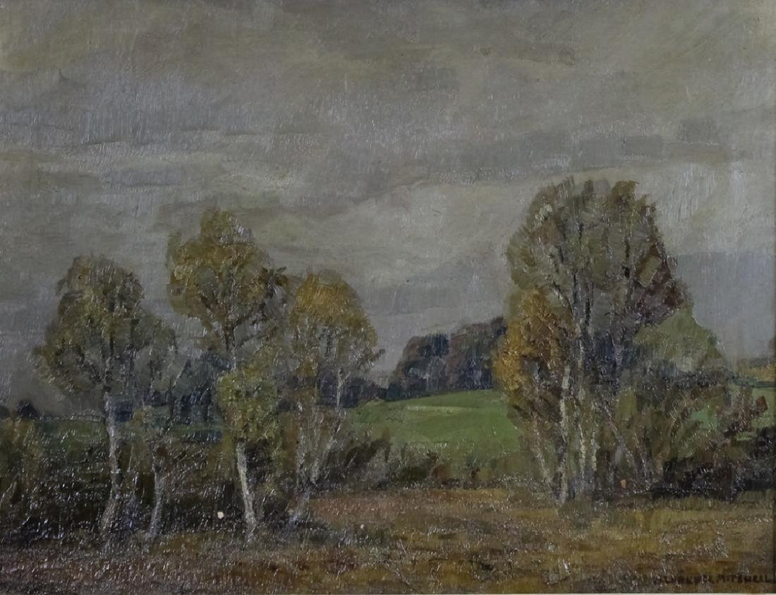 Alfred Mitchell Oil On Board Landscape Painting - 2
