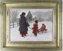 Robert Duncan American Winter Landscape Painting