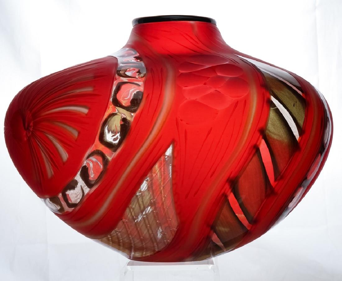Massimiliano Schiavon Murano Studio Art Glass Vase
