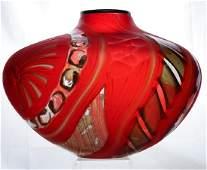Massimiliano Schiavon Murano Studio Art Glass Vase