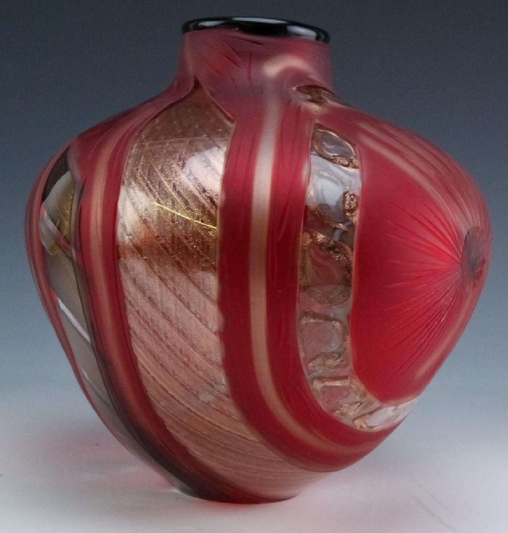 Massimiliano Schiavon Murano Studio Art Glass Vase - 4