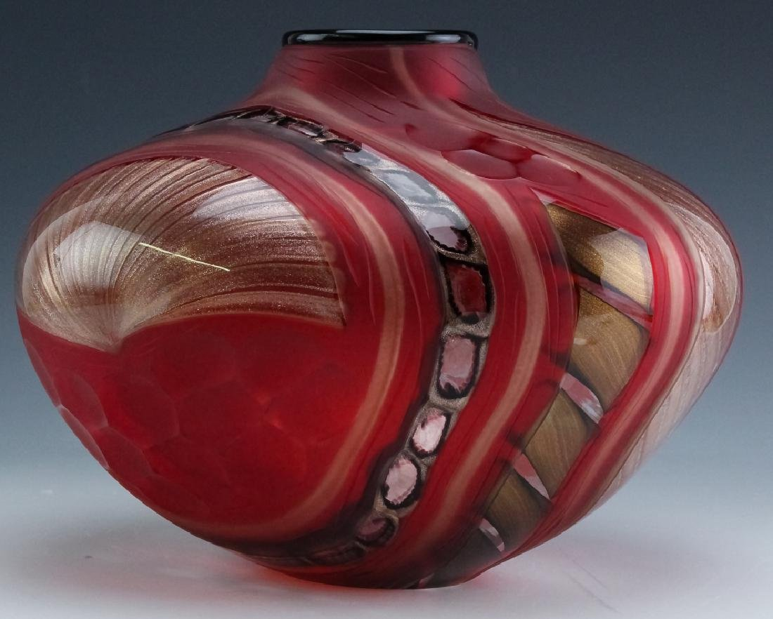 Massimiliano Schiavon Murano Studio Art Glass Vase - 5