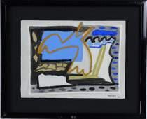 Paolo Valle b1948 Italian Mixed Media Art Painting