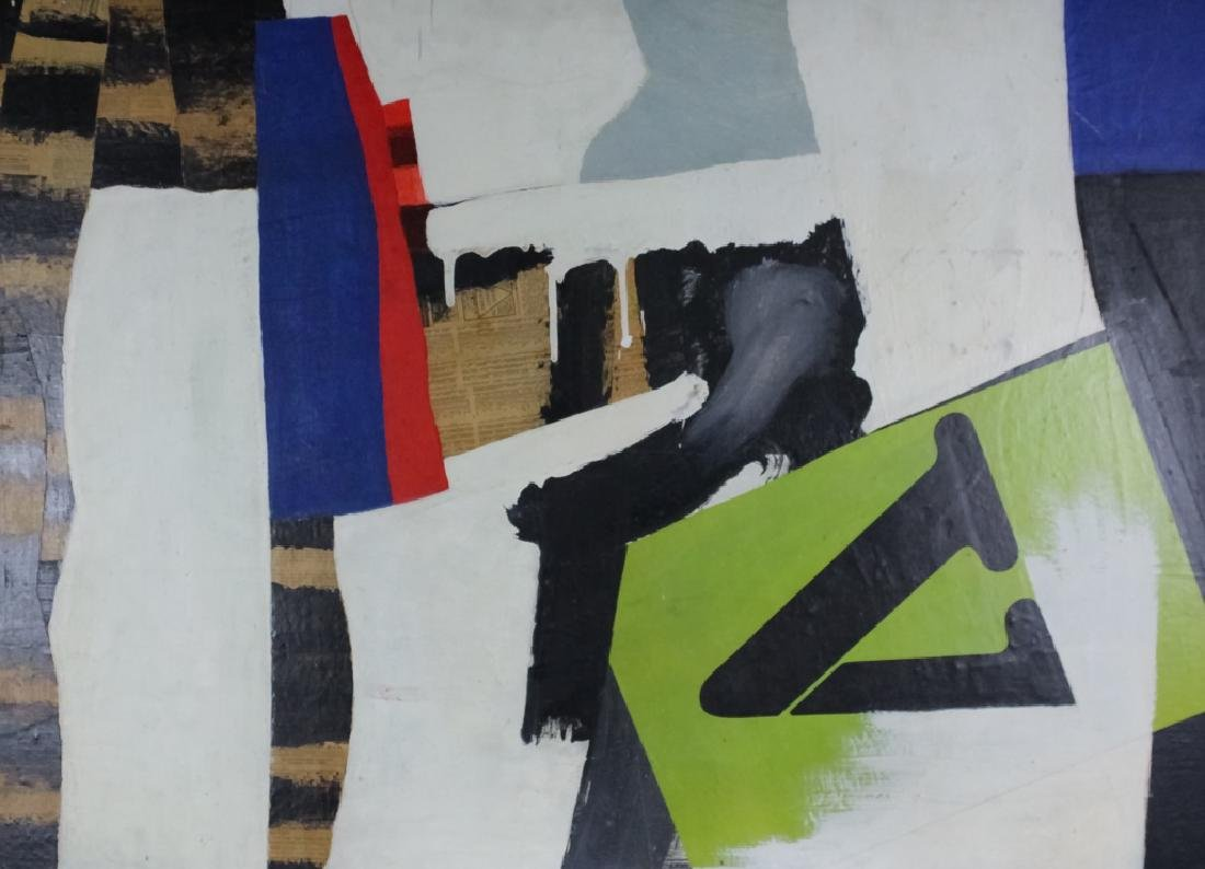 George Morris Style Abstract Mixed Media Painting - 2