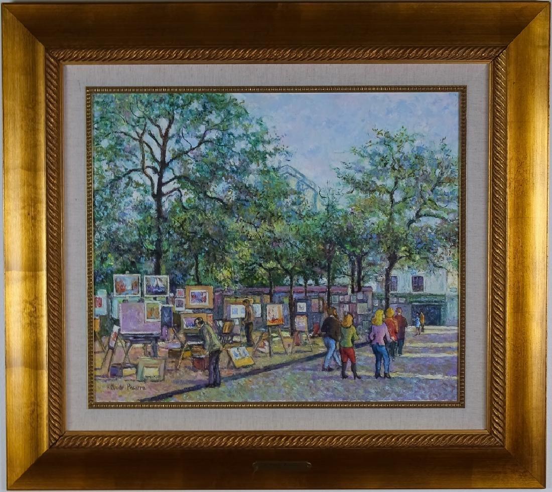 Claude Pissarro (b.1935) Street Scene Oil Painting
