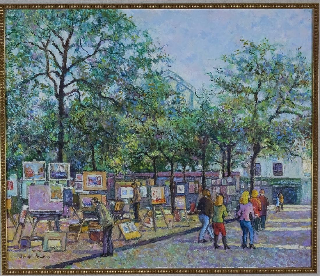 Claude Pissarro (b.1935) Street Scene Oil Painting - 2