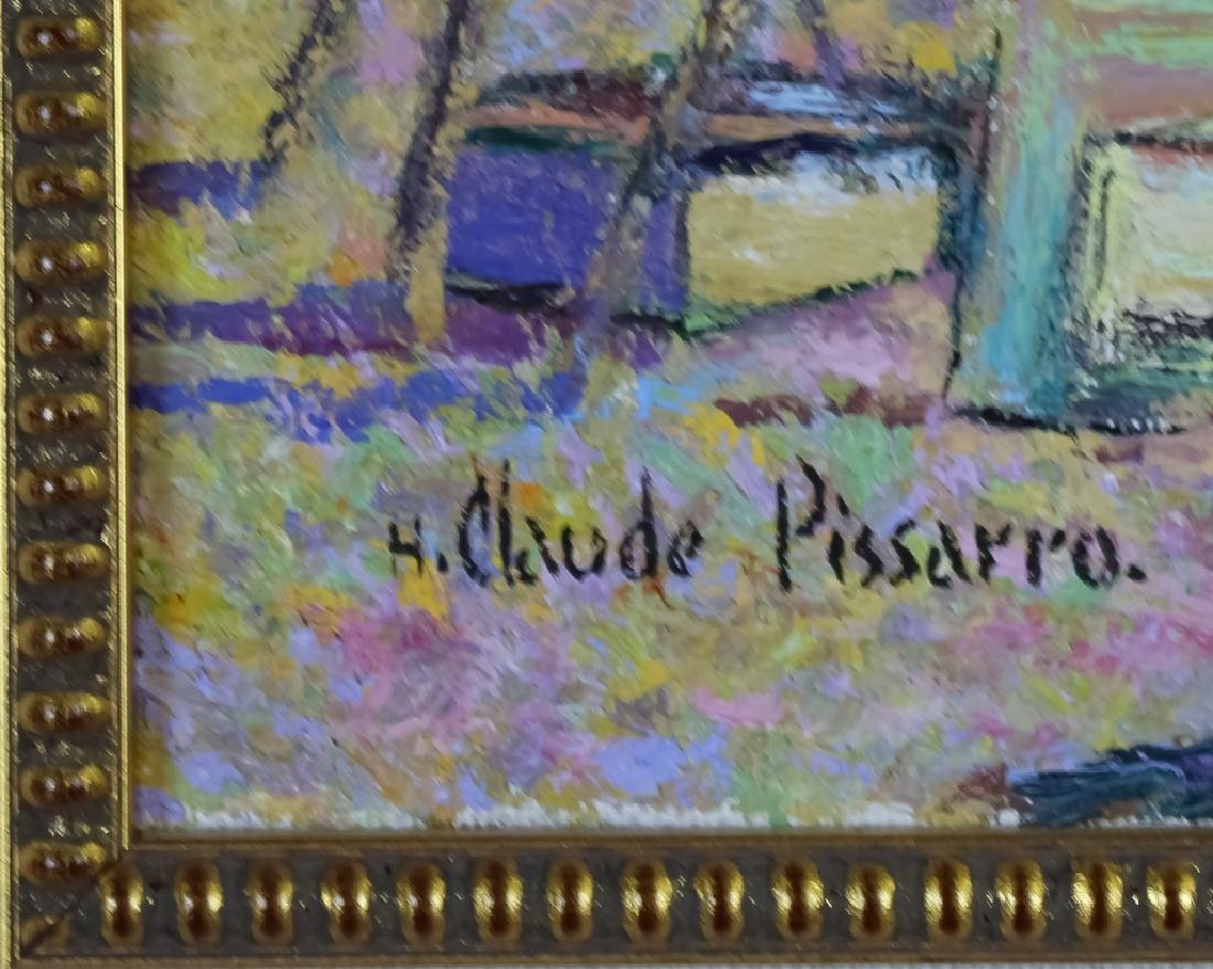Claude Pissarro (b.1935) Street Scene Oil Painting - 4