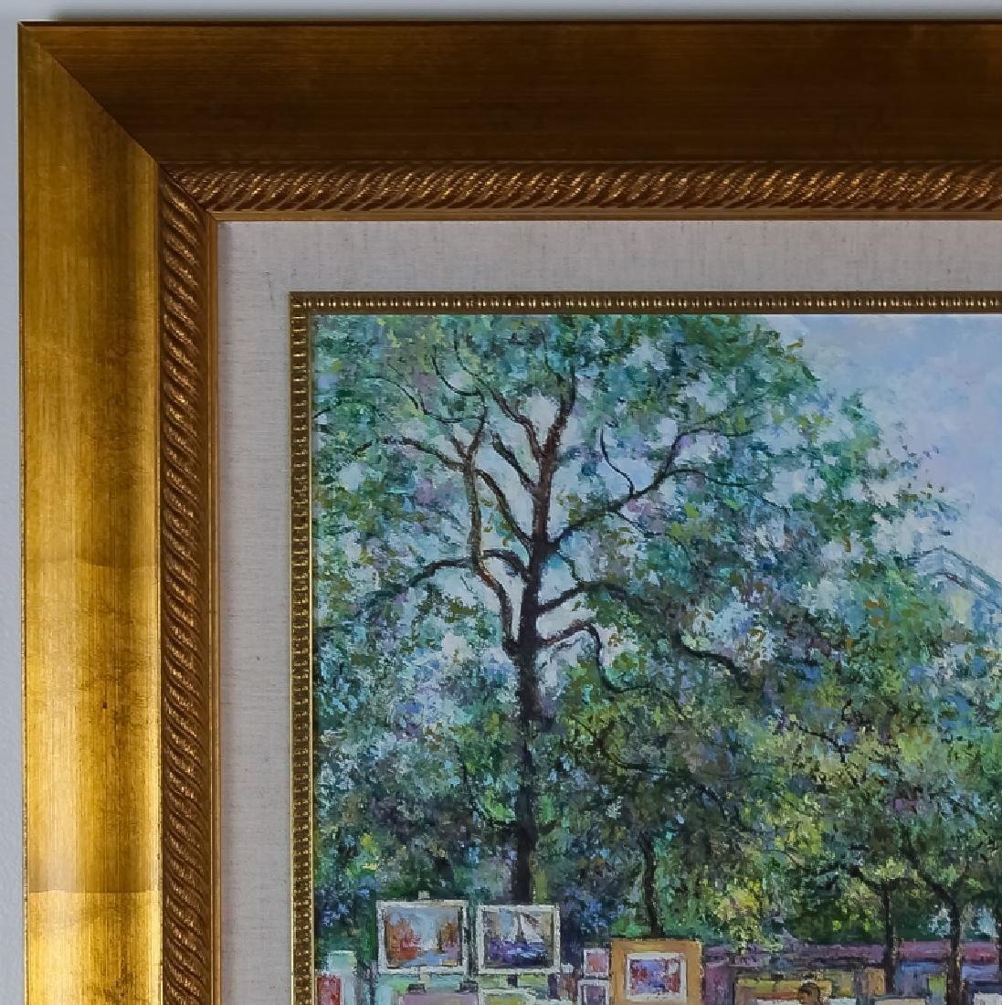 Claude Pissarro (b.1935) Street Scene Oil Painting - 9