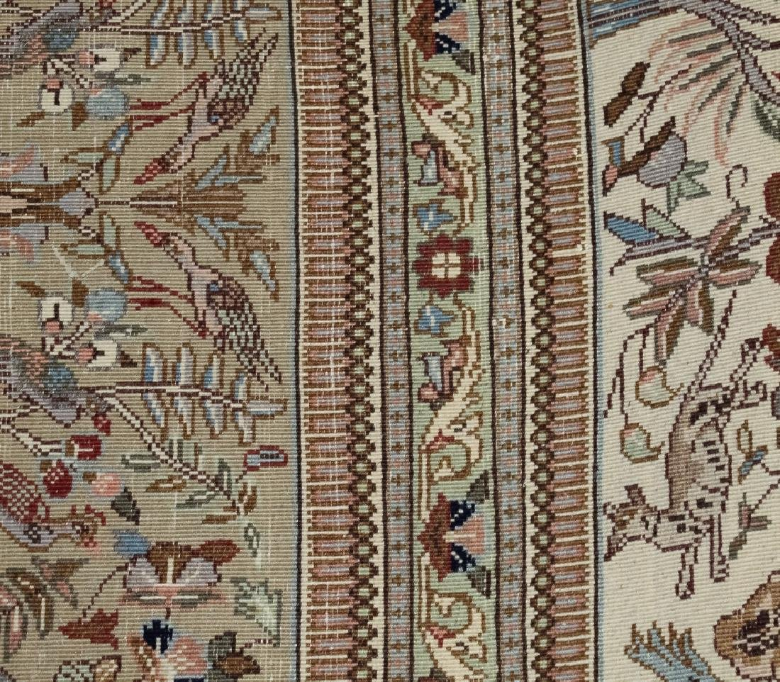 Palace Sized H-Knotted Oriental Hunting Carpet Rug - 10