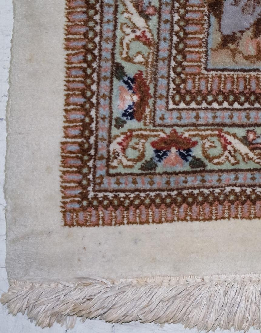 Palace Sized H-Knotted Oriental Hunting Carpet Rug - 4