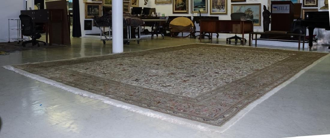 Palace Sized H-Knotted Oriental Hunting Carpet Rug - 6