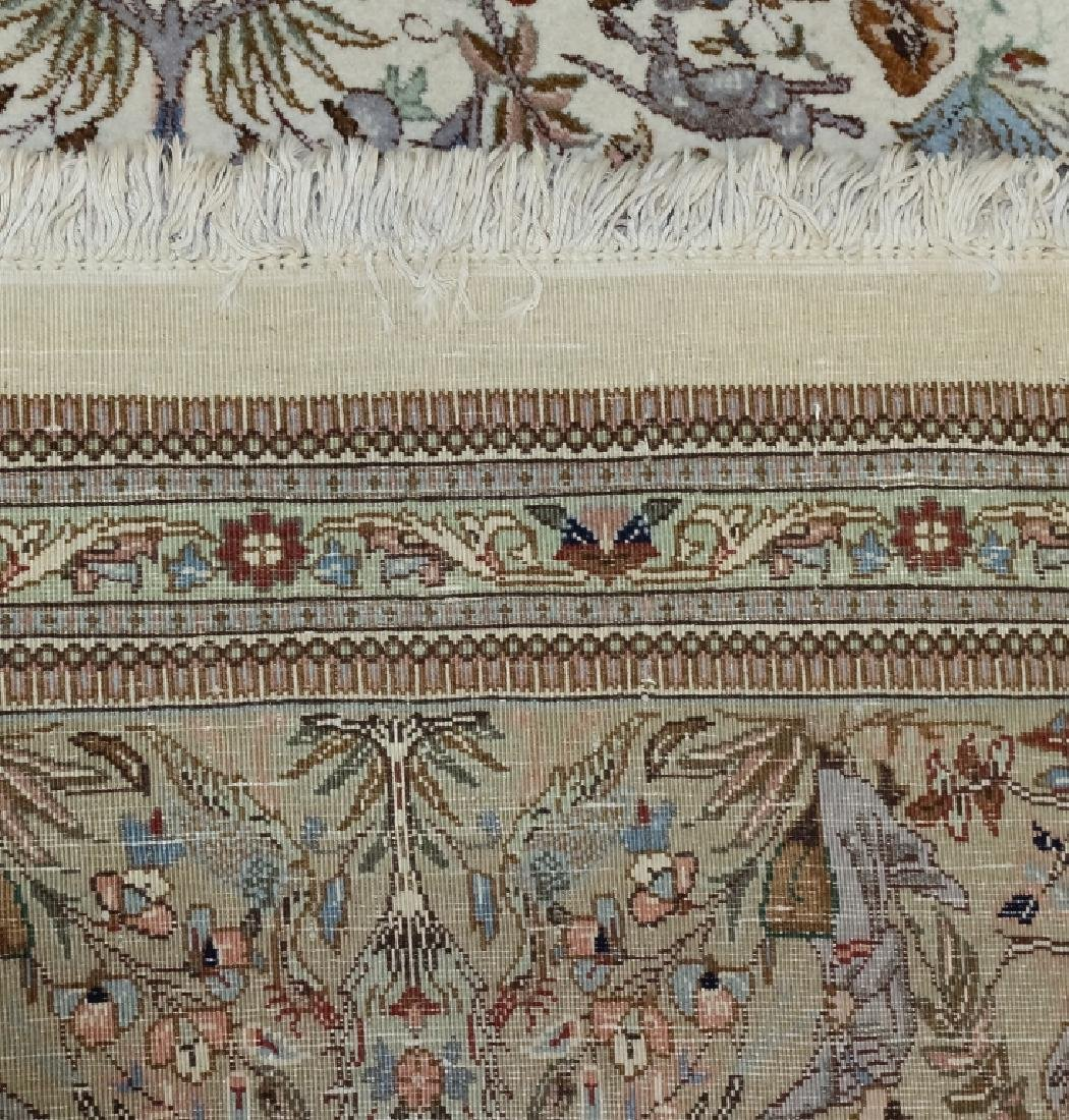 Palace Sized H-Knotted Oriental Hunting Carpet Rug - 9