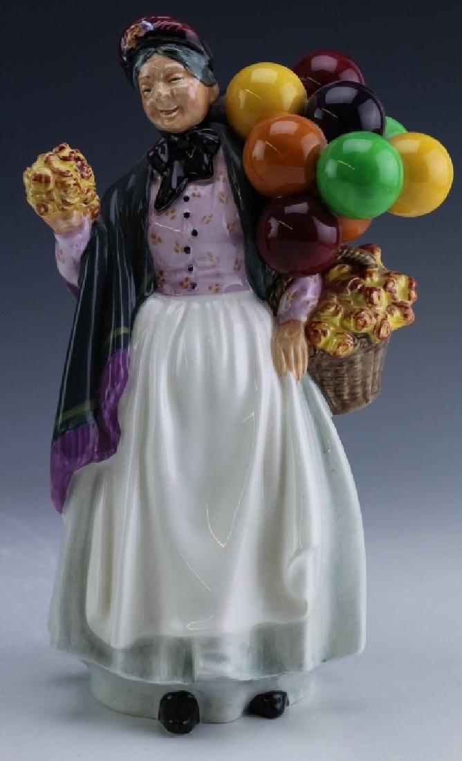 Royal Doulton Lady & Balloons Porcelain Figurine
