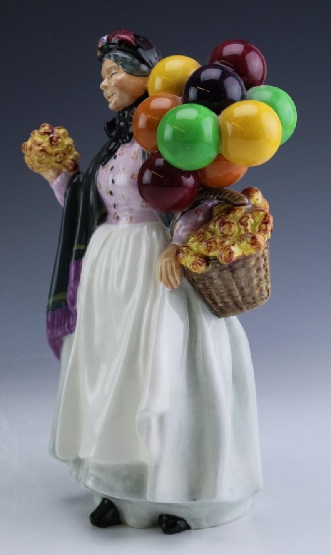 Royal Doulton Lady & Balloons Porcelain Figurine - 2