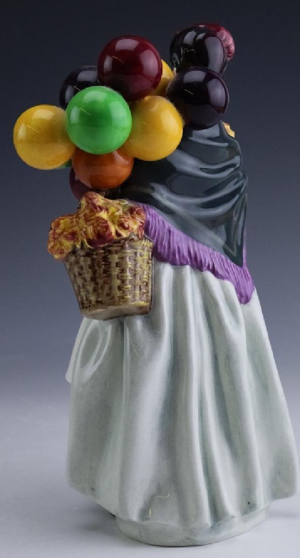 Royal Doulton Lady & Balloons Porcelain Figurine - 3