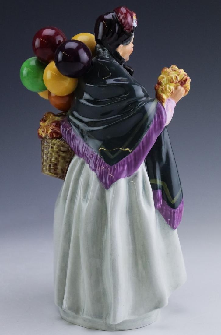 Royal Doulton Lady & Balloons Porcelain Figurine - 4