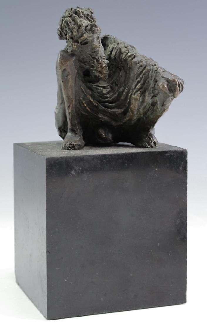 MCM Brutalist Modern Figural Bronze Art Sculptures - 3