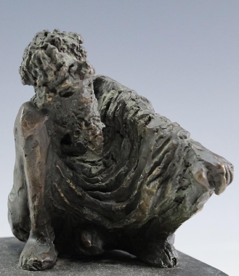 MCM Brutalist Modern Figural Bronze Art Sculptures - 4