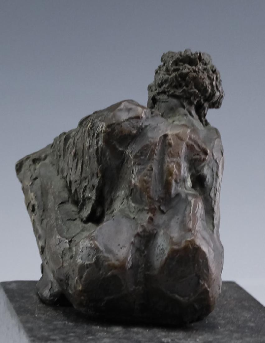MCM Brutalist Modern Figural Bronze Art Sculptures - 5