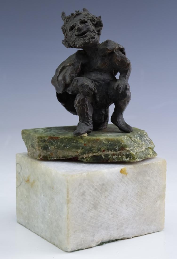 MCM Brutalist Modern Figural Bronze Art Sculptures - 7