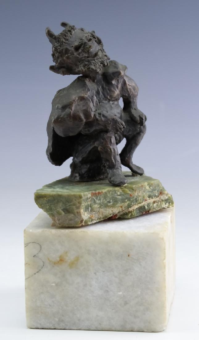 MCM Brutalist Modern Figural Bronze Art Sculptures - 8