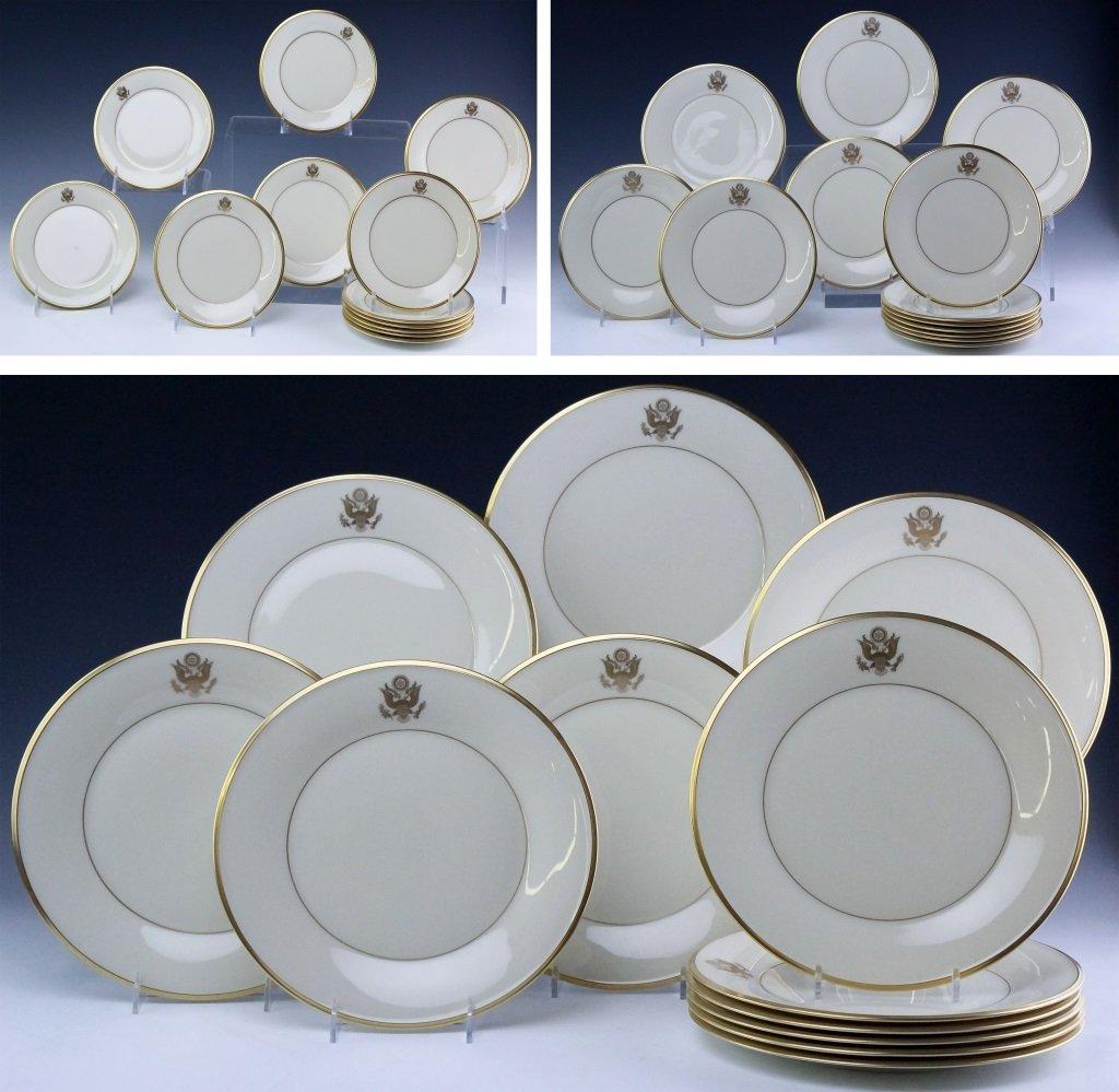 Lenox Congressional Dinner Salad Bread Plates Set