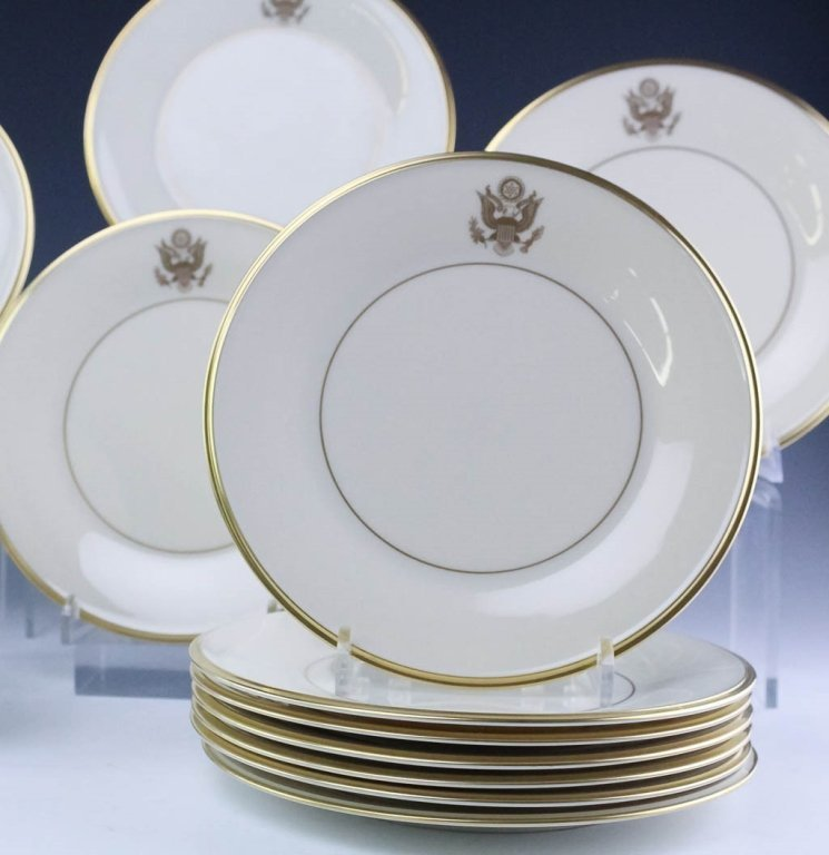 Lenox Congressional Dinner Salad Bread Plates Set - 6