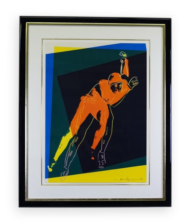 """Andy Warhol """"Speed Skater"""" Screenprint 1983 SIGNED"""